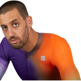 Sportful Bomber Jersey Men, pomarańczowy/fioletowy